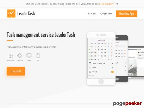LeaderTask - Personal Organizer | Planning software | To do list software