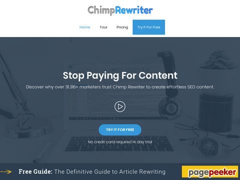 ChimpRewriter - can create thousands of articles in no time at all!