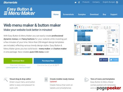 Directory: Easy Button & Menu Maker - create Web buttons and menus